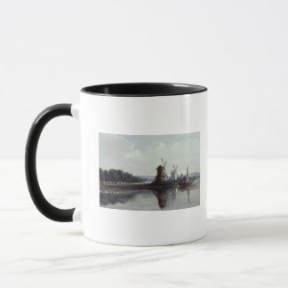 Windmills by a River, 19th century Mug