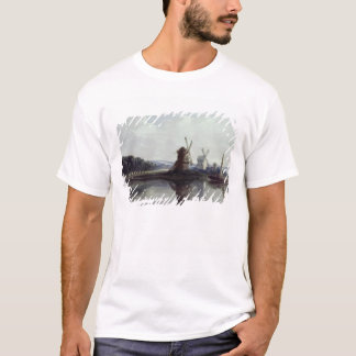 Windmills by a River, 19th century T-Shirt