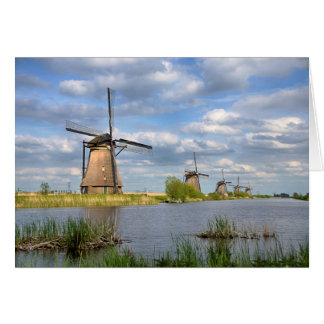 Windmills in Holland Greeting Card