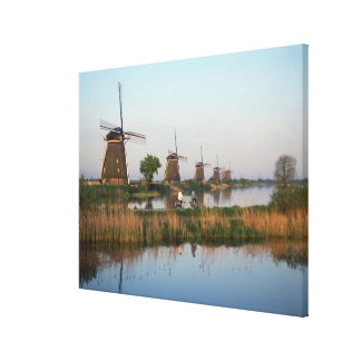 Windmills, Kinderdijk, Netherlands Canvas Prints