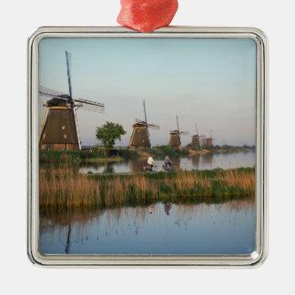 Windmills, Kinderdijk, Netherlands Christmas Ornament