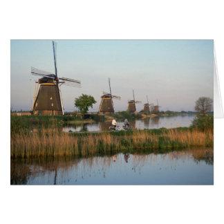 Windmills, Kinderdijk, Netherlands Greeting Card