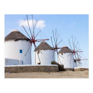 Windmills Mykonos Postcard