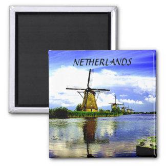 WINDMILLS OF KINDERDIJK, NETHERLANDS MAGNET