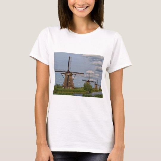 windmills of Kinderdijk world heritage site T-Shirt
