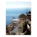 Windmills of Santorini Post Cards