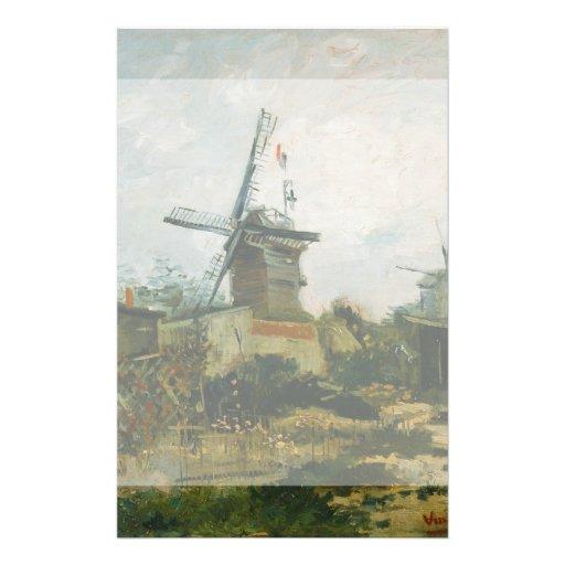 Windmills on Montmartre by Vincent Van Gogh Flyer Design