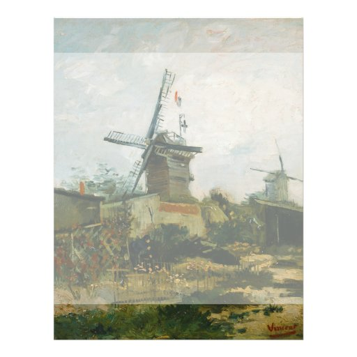 Windmills on Montmartre by Vincent Van Gogh Personalized Flyer