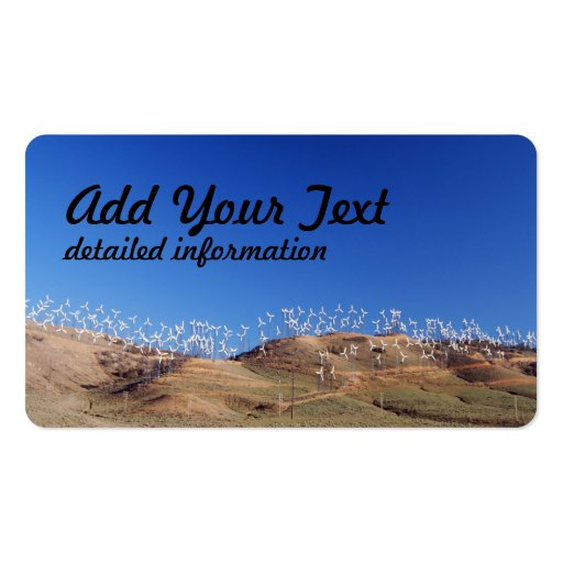 Windmills over the hill 2 business card templates