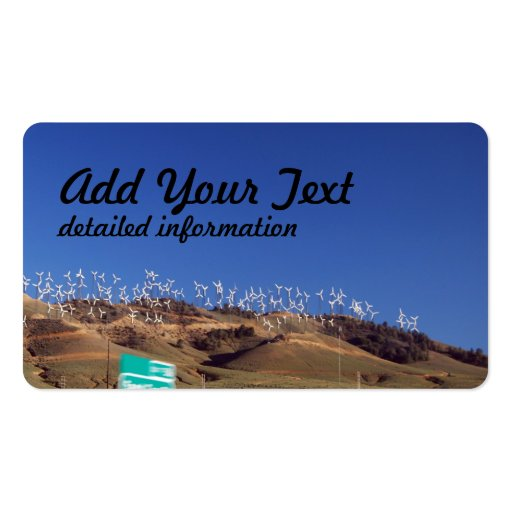Windmills over the hill business card templates