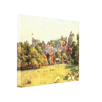 Windor Castle from the Fields, Berkshire, England Canvas Print