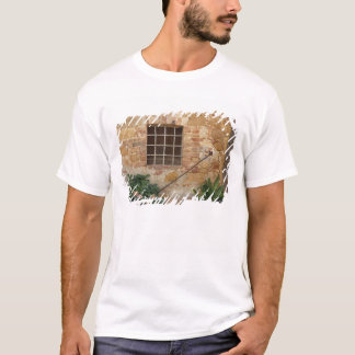 Window and ancient stone wall, Pienza, Italy T-Shirt