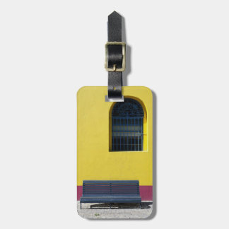 Window and Bench Luggage Tag