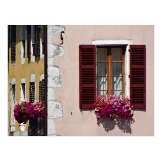 Window and flower box in historic Annecy, France Postcard