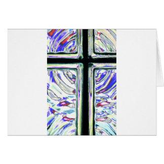 Window Art Cross 2 Greeting Card