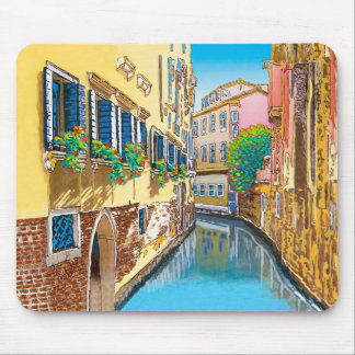 Window Boxes along the Canal Mouse Pad