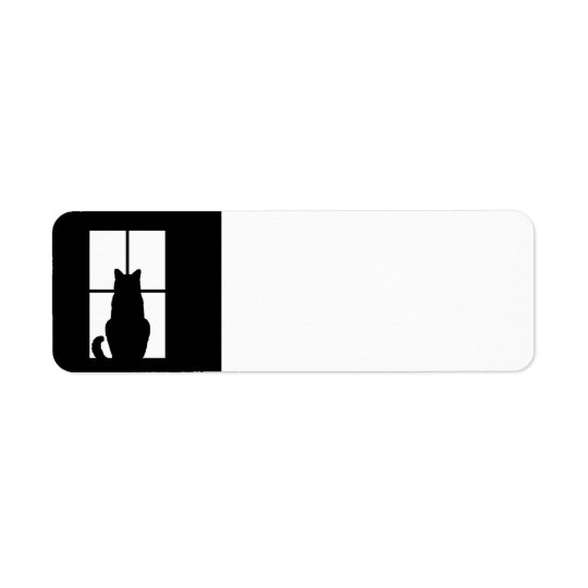Window Cat Click to Customise Get any colour decor Return Address Label