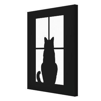Window Cat Click to Customize Get any color decor Canvas Print