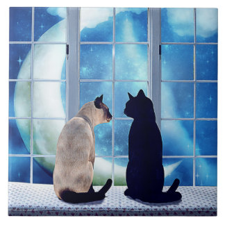 Window Cats Tile