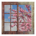 Window Cherry Blossom Tree Poster