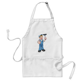 Window Cleaner Holding Squeegee Standard Apron