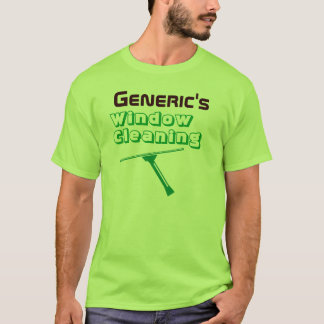 Window Cleaner Pro Green t-shirt