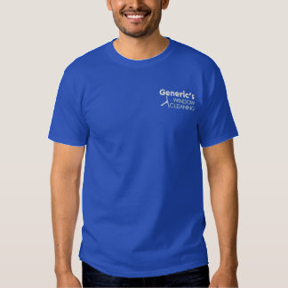 Window Cleaner Pro Squeegee Embroidered T-Shirt