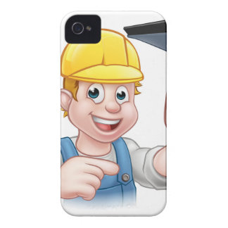 Window Cleaner Squeegee Cartoon Character iPhone 4 Cover