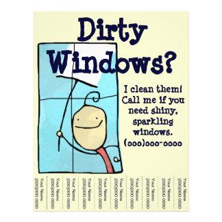 Window Cleaning 21.5 Cm X 28 Cm Flyer