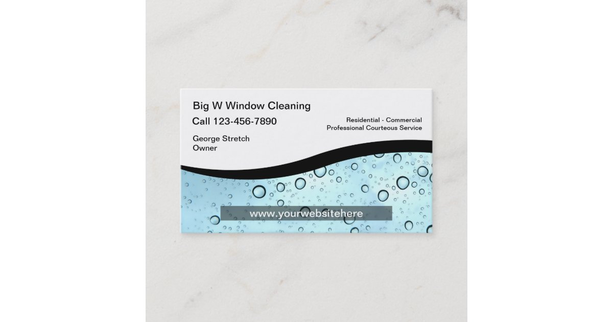 Window Cleaning Business Cards | Zazzle.co.uk