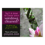 Window cleaning businessl card template Dark Business Card Template