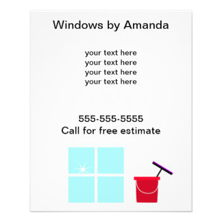 Window Cleaning Promotional Flyer