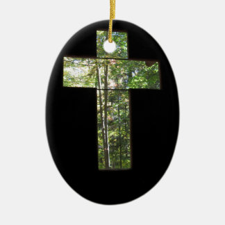 Window Cross Christmas Ornament