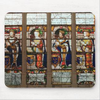 Window depicting Jacques de Bourbon Mouse Pad
