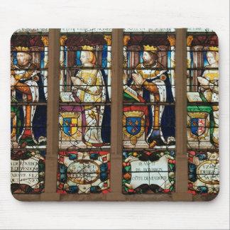 Window depicting Louis de Bourbon Mouse Pad