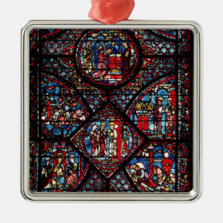 Window depicting scenes christmas ornament