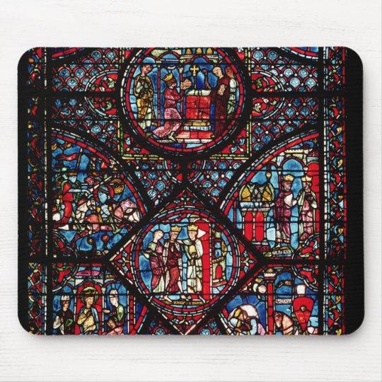 Window depicting scenes mouse mat