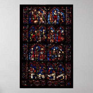 Window depicting scenes poster