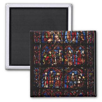 Window depicting scenes square magnet