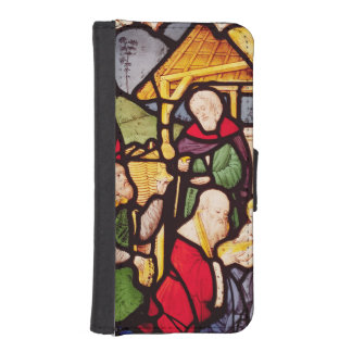 Window depicting the Adoration of the Magi iPhone SE/5/5s Wallet Case