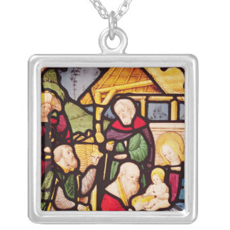 Window depicting the Adoration of the Magi Silver Plated Necklace