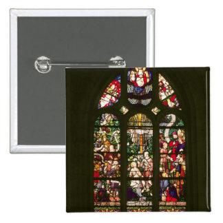 Window depicting the baptism of Christ, 1490 15 Cm Square Badge