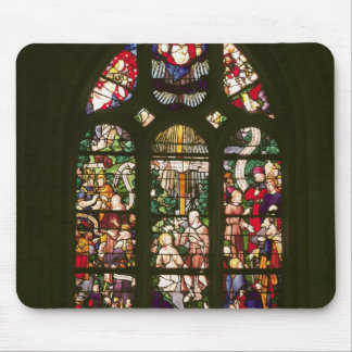 Window depicting the baptism of Christ, 1490 Mouse Pad