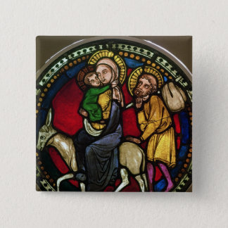 Window Depicting the Flight into Egypt 15 Cm Square Badge