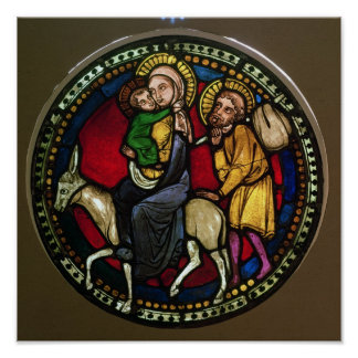 Window Depicting the Flight into Egypt Poster