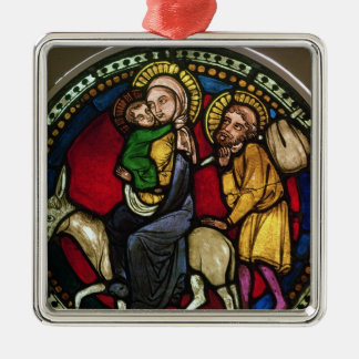 Window Depicting the Flight into Egypt Silver-Colored Square Decoration