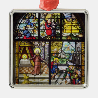 Window depicting the Gathering of the Manna Christmas Ornament