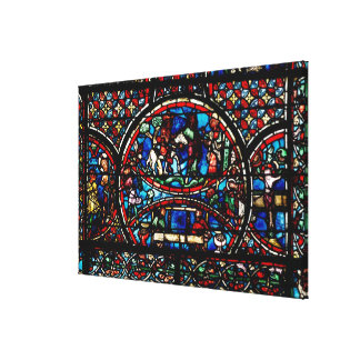 Window depicting the Good Samaritan Canvas Print