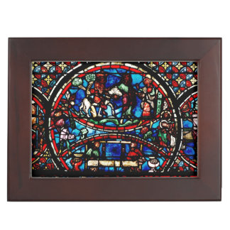 Window depicting the Good Samaritan Keepsake Box