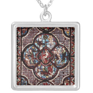 Window depicting the Parable of the Good Silver Plated Necklace